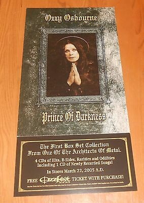 Ozzy Osbourne Prince of Darkness Poster Original 2-sided 2005 Promo 24x12