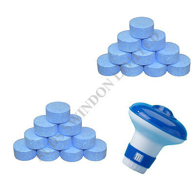 Floating Dispenser + 20 Ultimate Chlorine Tablets 20g Hot Tub Swimming Tablet