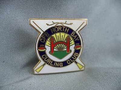 Very Nice Enameled Lapel Pin from CFB NORTH BAY CURLING CLUB