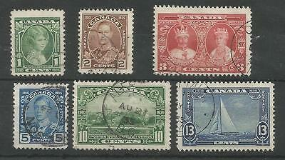 Canada The 1935 Gv Silver Jubilee Set Fine Used  C.£28