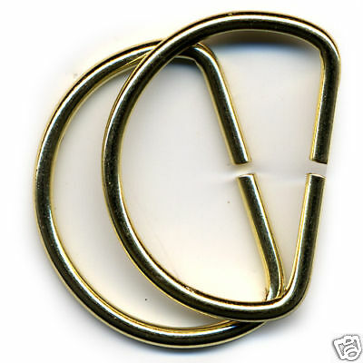 """PK OF 100 ,Curtain / Upholstery D Rings Brassed EB 25mm 1"""""""