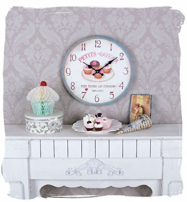Clock Nostalgia muffins kitchen clock petits gateaux vintage clock