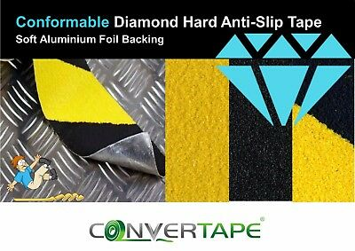 Conformable High Grip Anti Slip Tape Non Slip Adhesive Backed Black Yellow