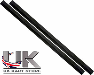 Track / Tie Rod 255mm x M8 Hex Black x 2 UK KART STORE