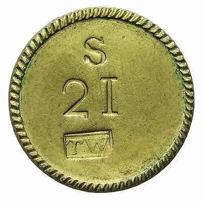GUINEA BRASS COIN WEIGHT by WESTWOOD