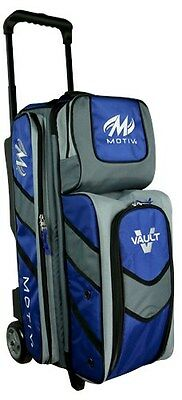 Motiv Deluxe Black/Orange 3 Ball Roller Bowling Bag