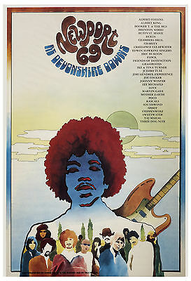 Jimi Hendrix & Others at Newport 69 at Devonshire Downs Concert Poster 1969