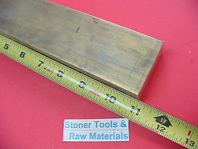 "1"" x 2"" C360 BRASS FLAT BAR 11"" long Solid 1.00"" Plate Mill Stock H02 New"