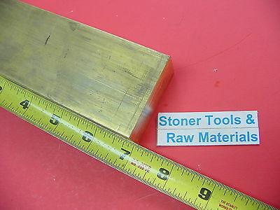 "1"" x 2"" C360 BRASS FLAT BAR 7"" long Solid 1.00"" Plate Mill Stock H02 New"