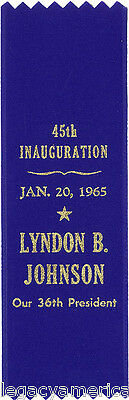 1965 Lyndon B. Johnson Inauguration Souvenir Ribbon (5041)