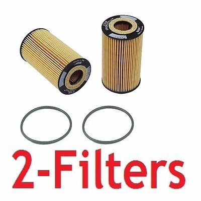 2 OEM Hengst Engine Oil Filters for Porsche 911 Boxster Cayman Cayenne Carrera
