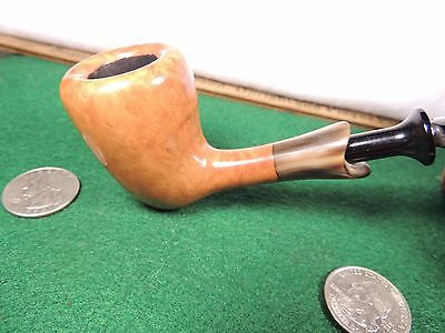 """Unsmoked """"""""made By Bari""""' Danish Horn Ferrule""""""""dublin Smooth Gorgeous Pick Axe"""