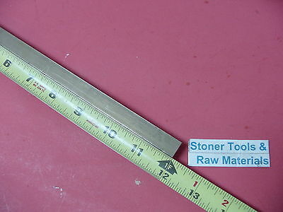 "1/2"" x 1/2"" C360 BRASS SQUARE BAR 12"" long Solid .50"" Flat Mill Stock H02"