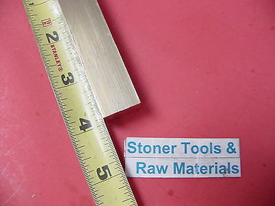 """3/4"""" x 3/4"""" C360 BRASS SQUARE BAR 4"""" long Solid .750"""" Flat Mill Stock H02"""