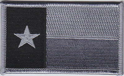 Texas TX State Flag Patch SUBDUED GREY & BLACK (gray)