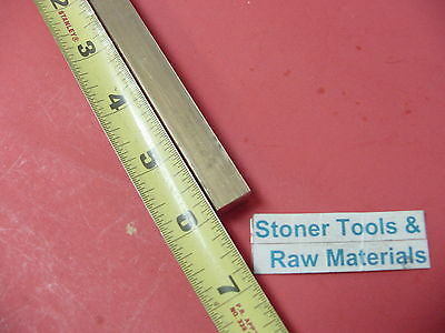 """1/2"""" x 1/2"""" C360 BRASS SQUARE BAR 6"""" long Solid .50"""" Flat Mill Stock H02"""
