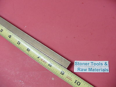 """1/2"""" x 1/2"""" C360 BRASS SQUARE BAR 9"""" long Solid .50"""" Flat Mill Stock H02"""