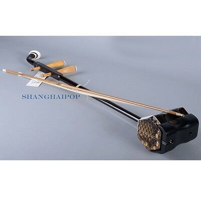 Chinese Erhu Wuyue Fiddle Violin Musical Instrument Bow Two-Stringed Er Hu Gift
