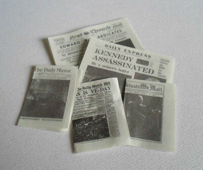 12Th  Dollhouse-Kitchen - New - 5 'event' Newspapers