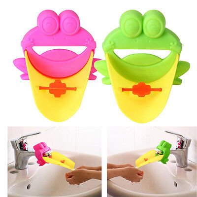 Kid Children Cute Water Tap Faucet Crab Extender Washing Hand Bathroom Sink
