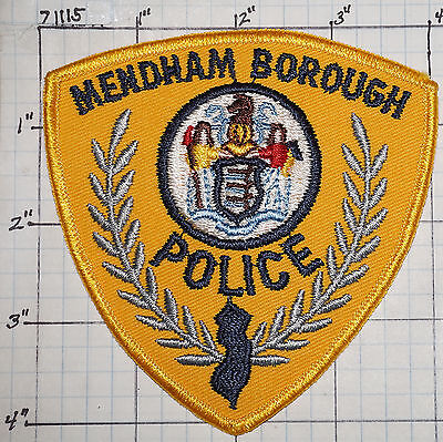 New Jersey, Mendham Borough Police Dept Patch