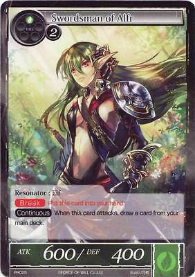 Fow Force Of Will Swordsman Of Alfr Promo Card Pr025