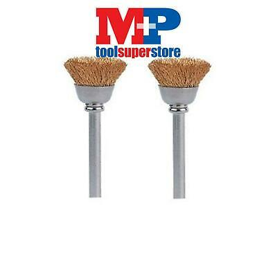 Dremel 536 Rotary Multi Tool 13Mm Cup Shaped Brass Wire Brush **pack Of 2**