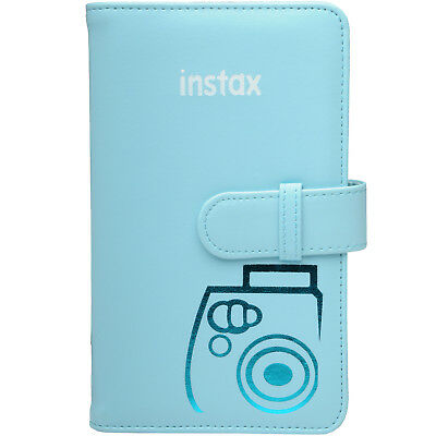 Fujifilm Instax Mini Wallet 108 Photo Album Blue for 7S 8 25 50S 90 Cameras