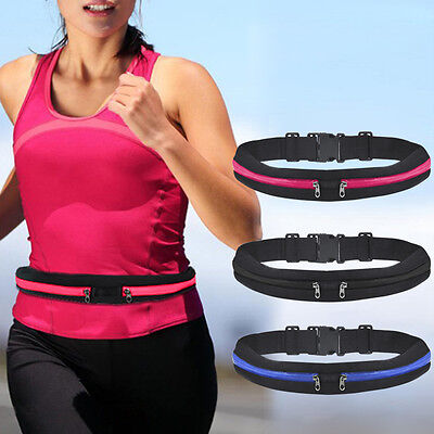 Rose Sports Running Belt with Zipped pockets for Phone & MP3 Players Showerproof