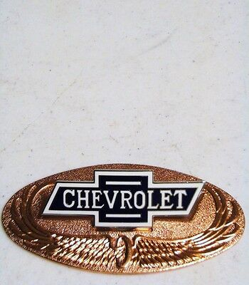1928 Chevy Radiator Emblem with Bronze Back Plate '28