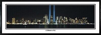 New York Twin Towers World Trade Center Panorama Bild,100cm,Panoramic View