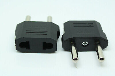 hot 3Pcs US to European EU Travel Charger Adapter Plug Outlet Converter