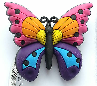 3D Big Beautiful Colourful Butterfly Croc Shoe Charm Crocs Jibbitz Wristbands