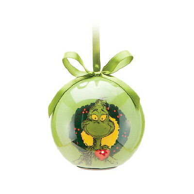 Dr. Seus The Grinch Two-Sided LED Light Ball Christmas Holiday Ornament SEALED