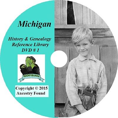 244 old books - MICHIGAN History & Genealogy on DVD