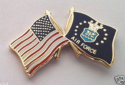 ** USA AMERICAN / US AIR FORCE FLAG ** Military Veteran Hat Pin 14807 HO SMALL