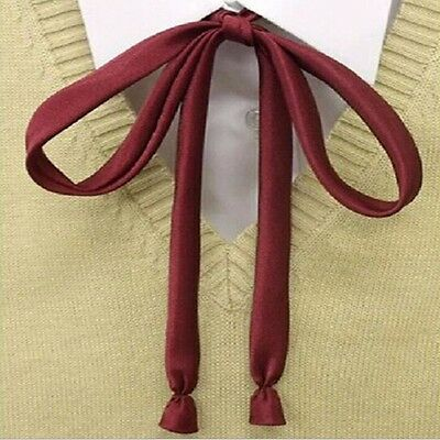 Student School Uniform Skinny Bowknot Bow Tie For Women Girl Japan Anime Cosplay