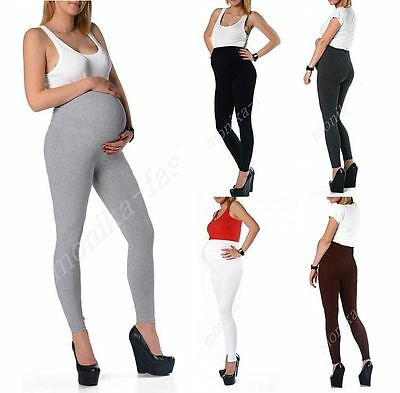 Damen Umstand Leggins Leggings Umstandsleggings Hose Lang 36 38 40 42 44 46 mf9