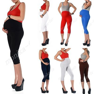 Umstand Leggins Leggings Umstandsleggings 3/4 Capri Hose 36 38 40 42 44 46 mf10