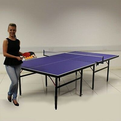 Blue Table Tennis Table Professional Tournament Full Size Indoor Outdoor
