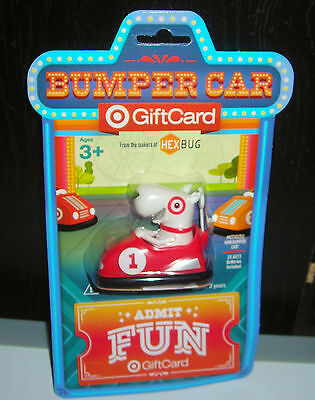 Target Gift Card No Cash Value Bullseye Red Bumper Car Toy Collectible Only