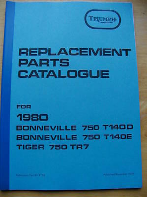 new 1980 SPARE PARTS BOOK / manual-TRIUMPH BONNEVILLE T140D T140E TR7 - 750cc