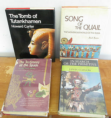 Lot of Vintage 4 HC Anthropology & Archeology Books in DJs