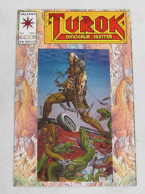Turok, Dinosaur Hunter, #1 July 1993 By Valiant Comics Nm (9.4) Embossed Cover