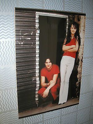 WHITE STRIPES #1 A4 clip-framed picture for wall GIFT free UK P&P