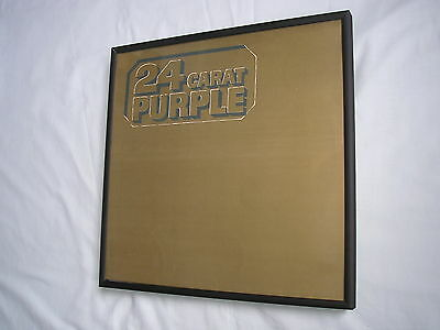 DEEP PURPLE 24 Carat LP cover framed for wall mounting black/silver/walnut