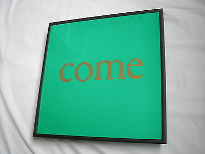 """JAMES Come Home 12"""" cover framed for wall mounting black/silver/walnut"""