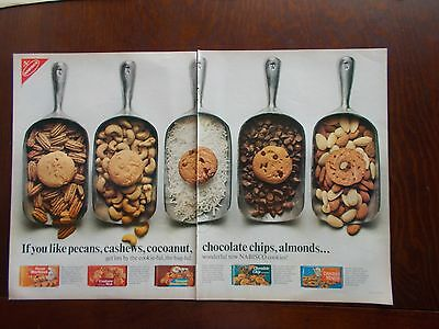 NABISCO COOKIES 1966 VINTAGE 2 PAGE MAGAZINE AD  inv#113