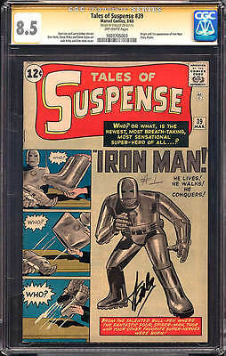 Tales of Suspense 39 CGC 8.5 1st IRON MAN SS Stan Lee 1963 Jack Kirby 1003705003