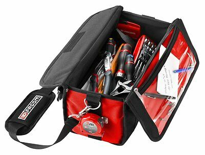 FACOM BLACK RED COMPACT TOOLBAG - High quality with a durable adjustable strap